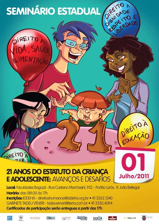 Seminário - Eca 21 anos - cartaz